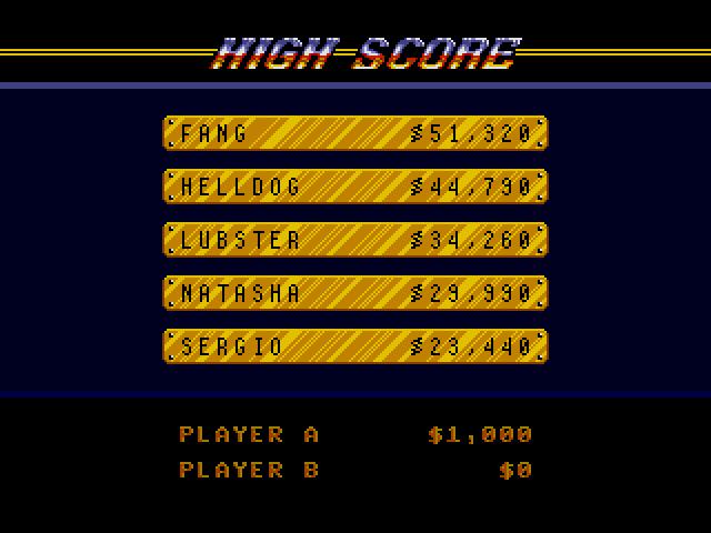 Road Rash (Sega MegaDrive) - Лучшие результаты