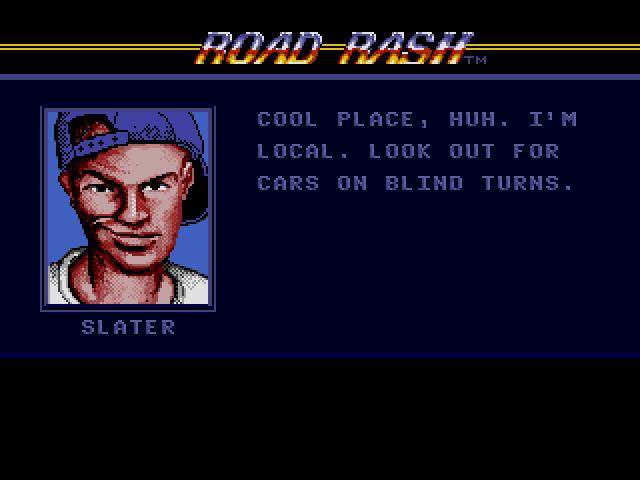 Road Rash (Sega MegaDrive) - Совет от гонщика