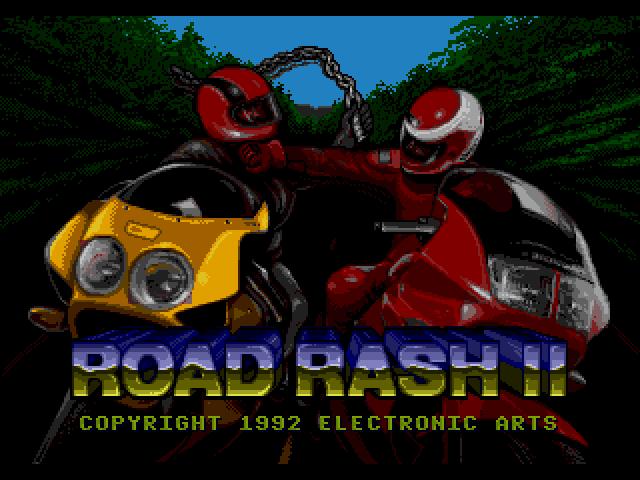 Road Rash 2 (Sega MegaDrive)  - главный экран