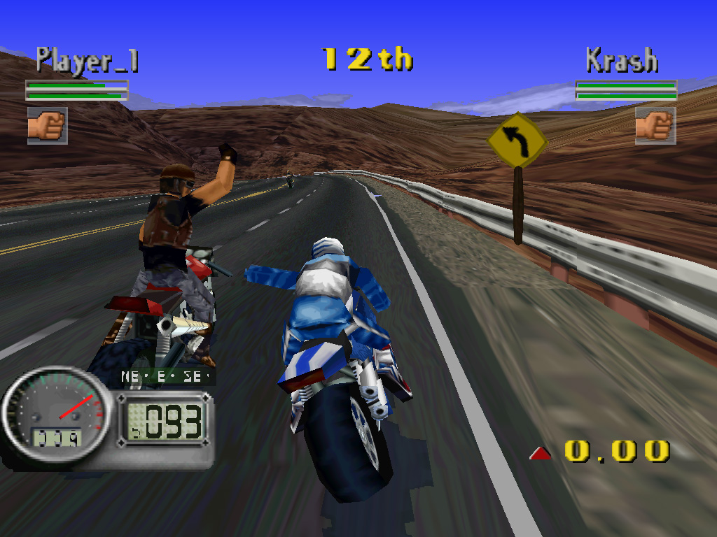 Скриншот из Road Rash 3D (PlayStation)