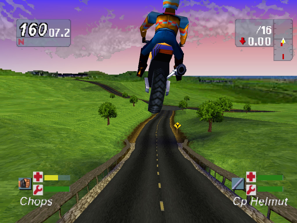 Скриншот из Road Rash JailBreak (PlayStation)