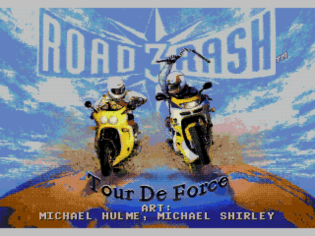 Road Rash 3 (MegaDrive) Main Menu
